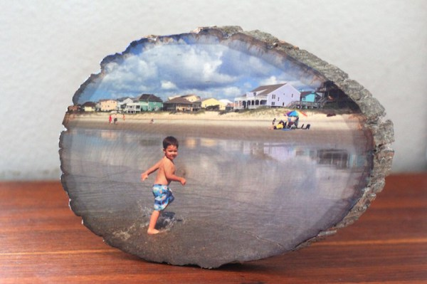 DIY Wood Slice Photo Transfer Project