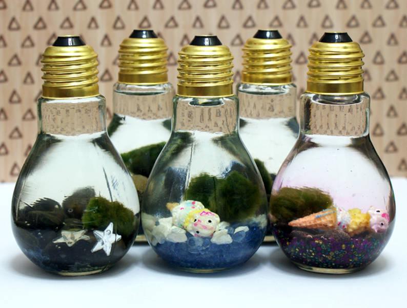 Make Your Own Easy DIY Light Bulb Aquariums