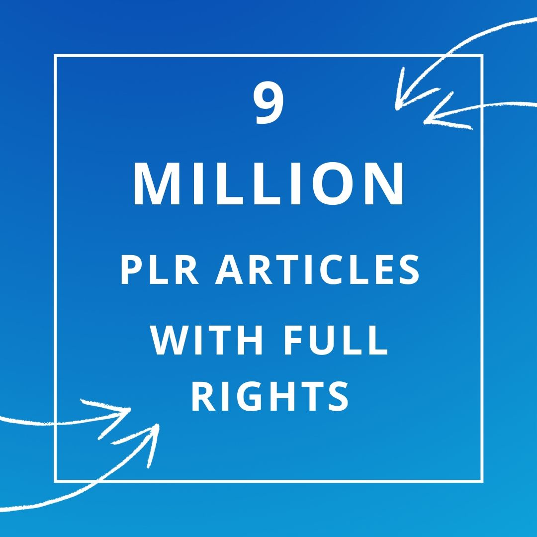 9 MILLION PLR articles collection over 1000 niches