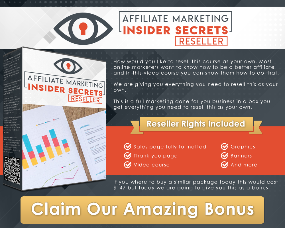 [PLR] Affiliate Marketing Insider Secret - Learn How to be a Successfull Affiliate Marketer