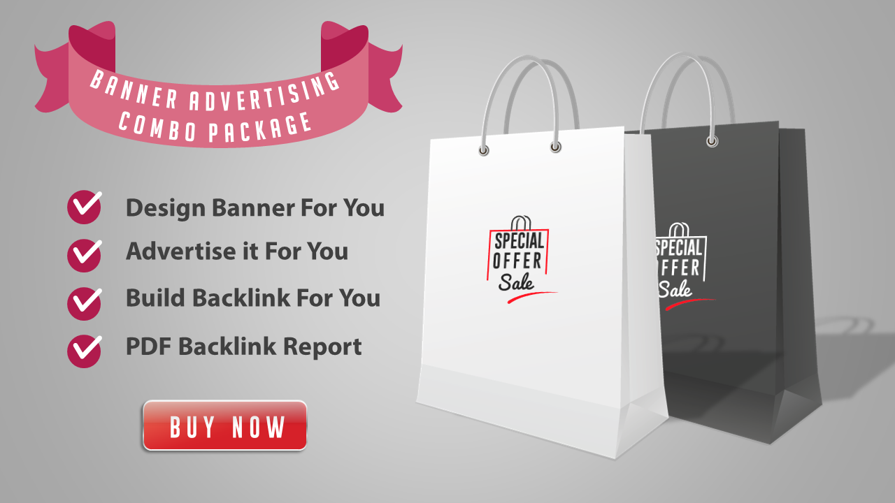 Web Banner Combo - Banner Design + Advertise it + Backlink Building