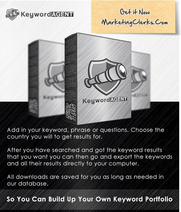 Keyword Agent - Find The Largest Search Volume and Low Competitors Keyword