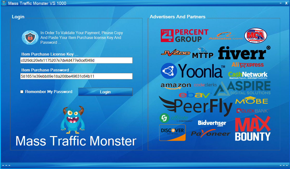 Mass Traffic Monster Software,  Top Traffic For Internet marketers