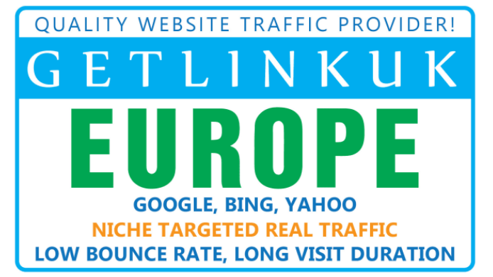 30 Days Unlimited EUROPE Targeted Real Organic and Unique Website Visitors Traffic