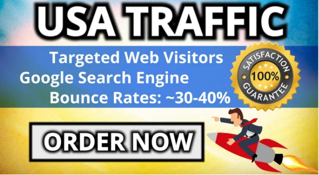 Real google USA TARGETED visitors traffic including keyword for 30 Days