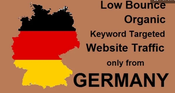 Real Organic keyword targeted low bounce germany web traffic for ONE MONTH