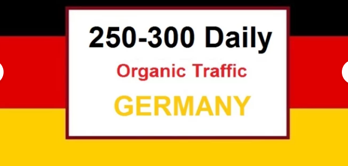 250 to 350 Real targeted GERMAN visitors traffics daily for 30 DAYS