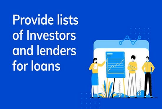 provide lists of investors and project lenders for loans