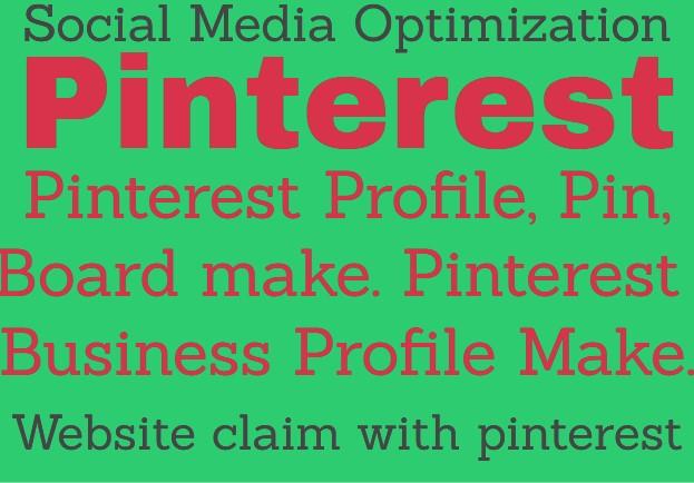 Pinterest SEO. Profile,  Pin,  Board,  Business Profile make.