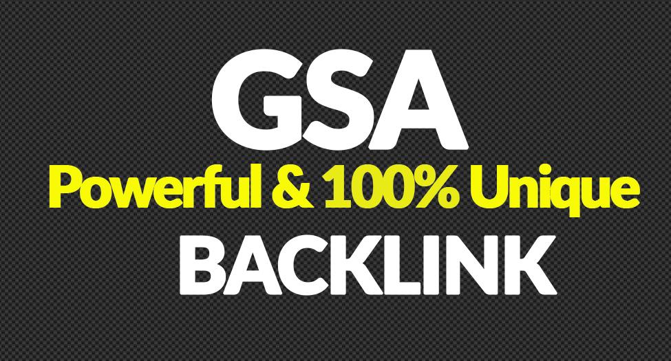Create 400,000 Authority Quality GSA SER Verified Backlinks