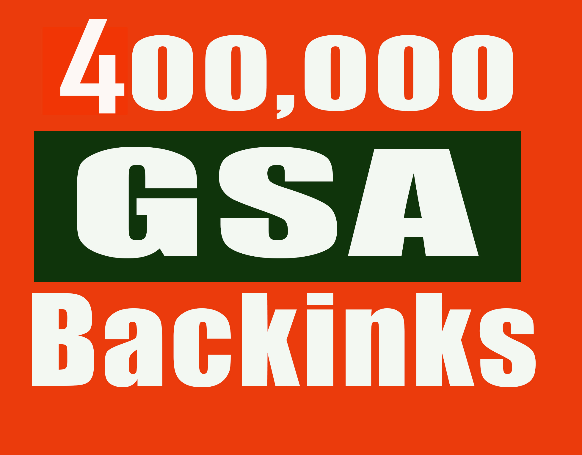 Create 400,000 verified GSA seo Backlinks for video,  website,  blog