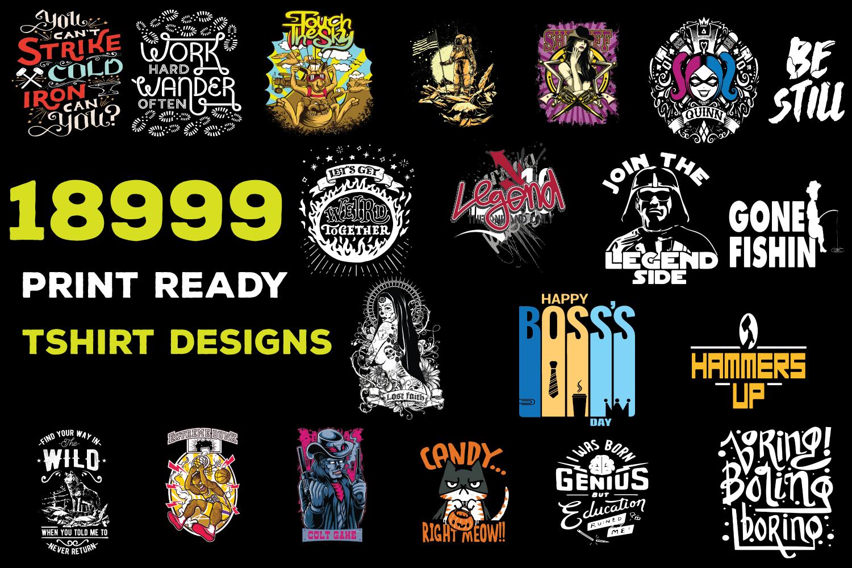 send you 18999 editable tshirt designs theme bundle