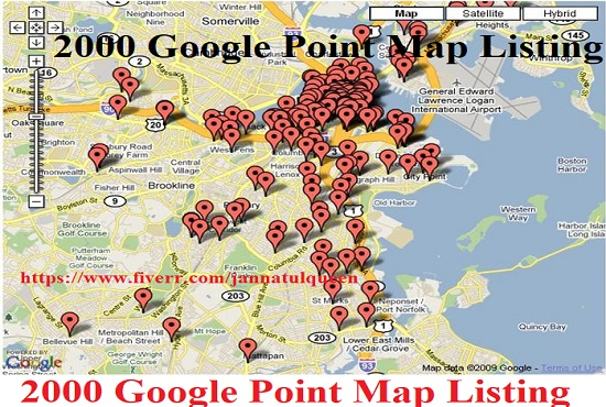 Create 500 Goole Point Map Citation For local Business Listing