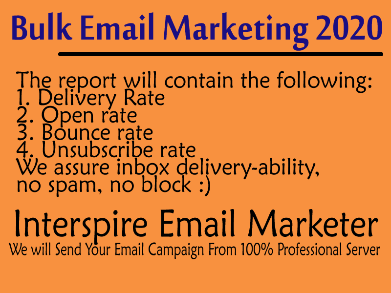 Send 100,000 bulk email (Email marketing, Email blast, Email campaign)