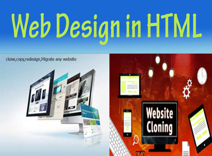 Design,  Redesign,  Clone all types of website