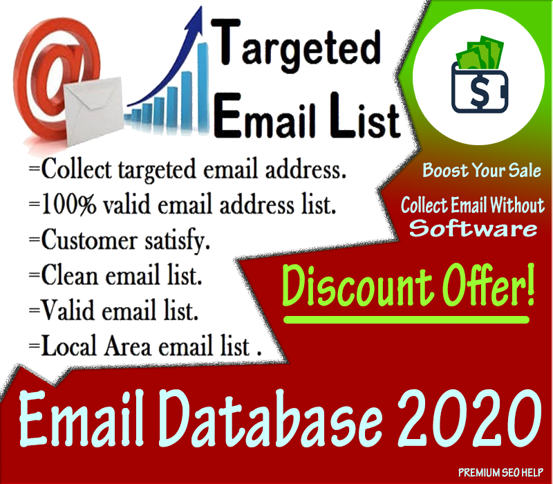 Collect 5,000 valid Email Database as your business industry to send an campaign