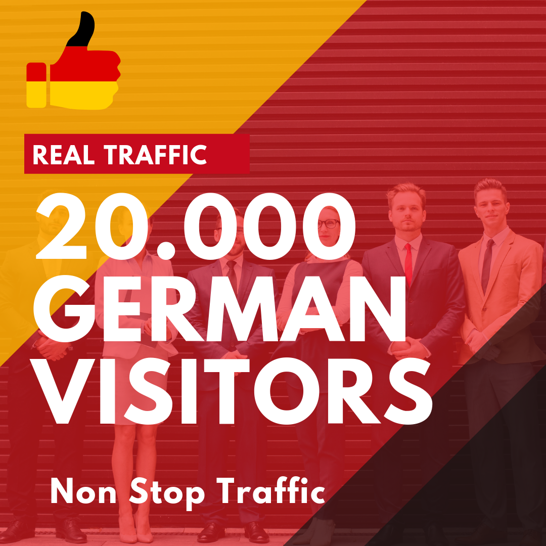 20.000 German visitors Real Traffic Non Stop