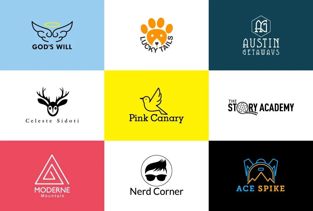 I will design cool flat minimal logo
