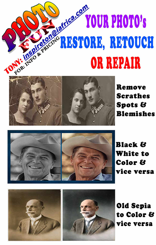 We Will Restore,  Retouch Or Fix Damaged Photos
