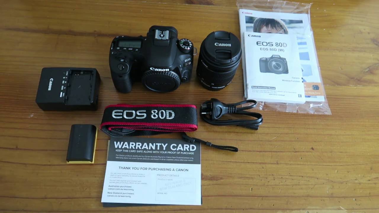 CANON EOS 80D W/EF-S 18-135 IS USM LENS