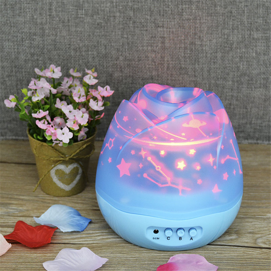 Rotating Night Light Projector Star Moon Master Lamp