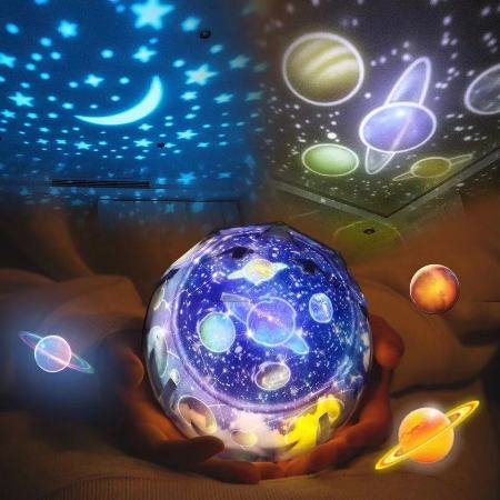 LED Night Light Starry Sky Magic Star Moon Planet Projector Lamp
