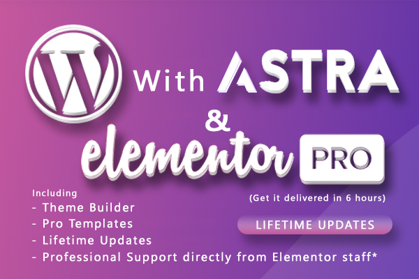 Elementor Pro with JetElements and Astra Pro with addons (Lifetime Updates)