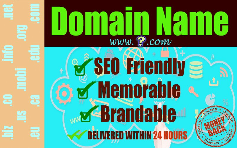 I will research and suggest brand domain name with logo, DOMAIN NAME RESEARCH