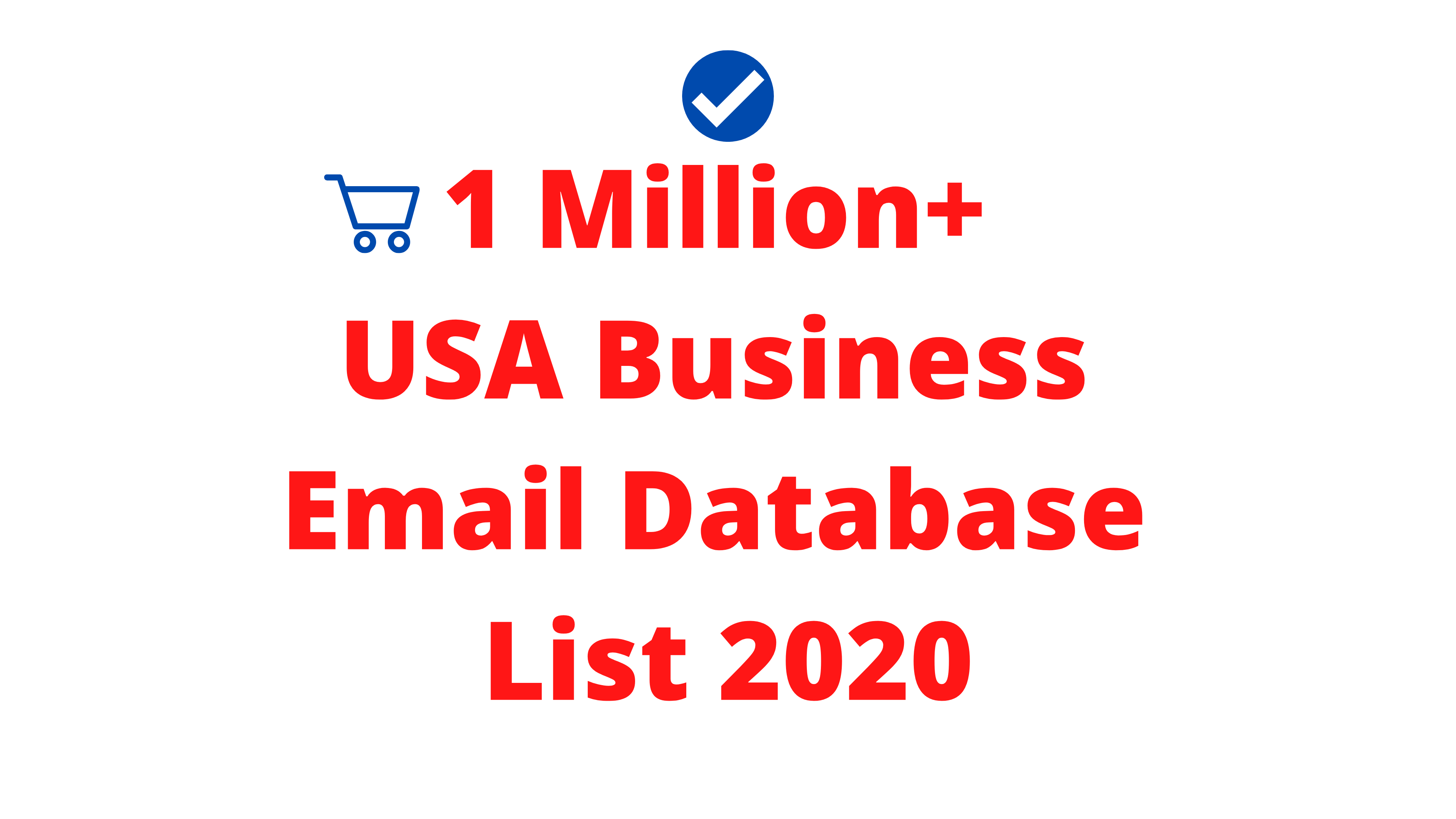 1 Million+ USA Business Email Database List Detail Include 2020