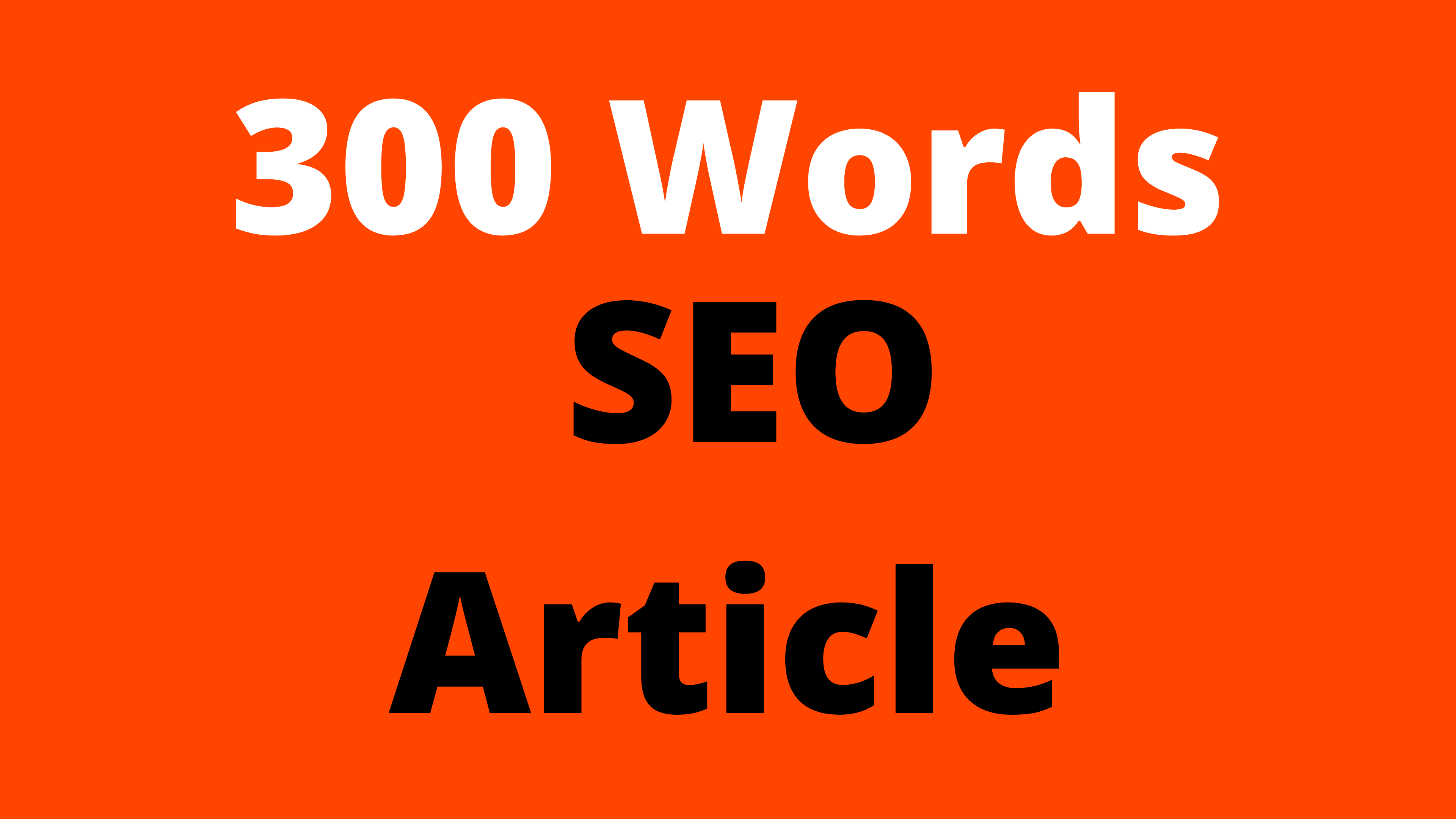 Write Article 300 Words About Any Category