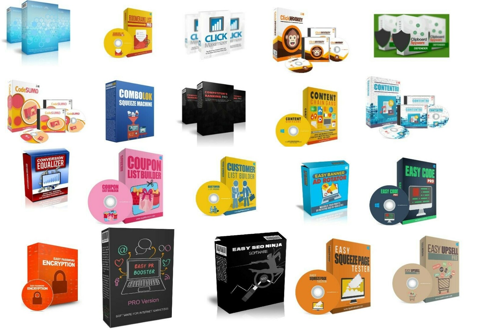 100 Premium Web and Internet Marketing Software Collection With PLR MRR