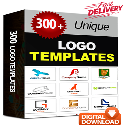 300 Unique Logo Templates With PSD Source Files