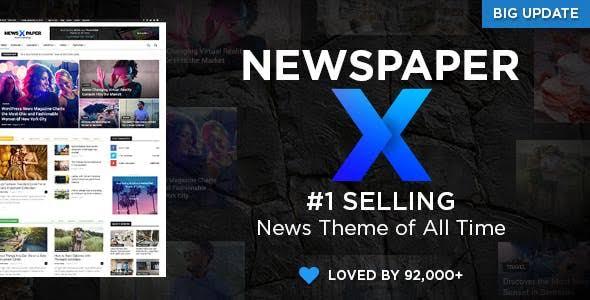 Newspaper X WordPress Theme Latest GPL Version 11 - Lifetime Updates