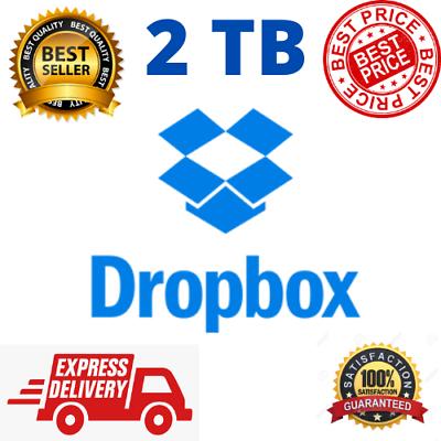 2TB Dropbox Premium Lifetime Account - Instant Delivery