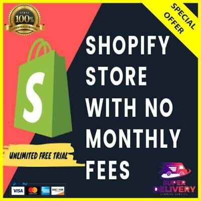 Shopify Store With No Monthly Fee - Unlimited Trial With All Features and Apps