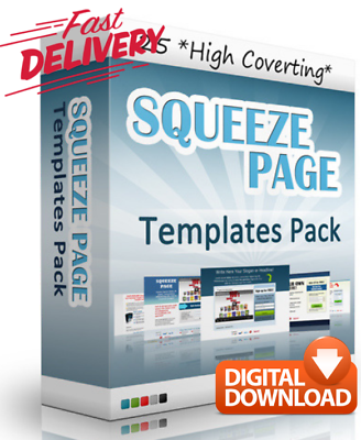 25 Squeeze Page Templates - Internet Business & Make Money Online + MRR