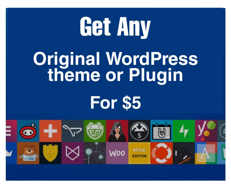 Get original copy of any premium Wordpress theme or plugin