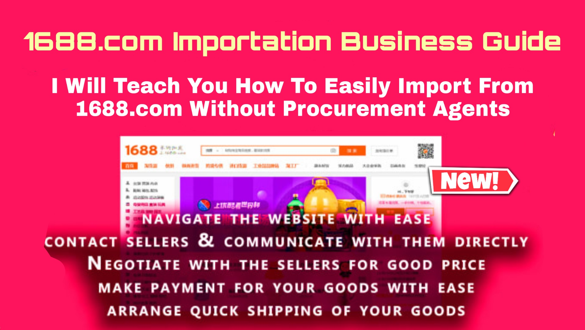 1688.com Importation Guide - Easily Import from China without procurement agents (pdf)