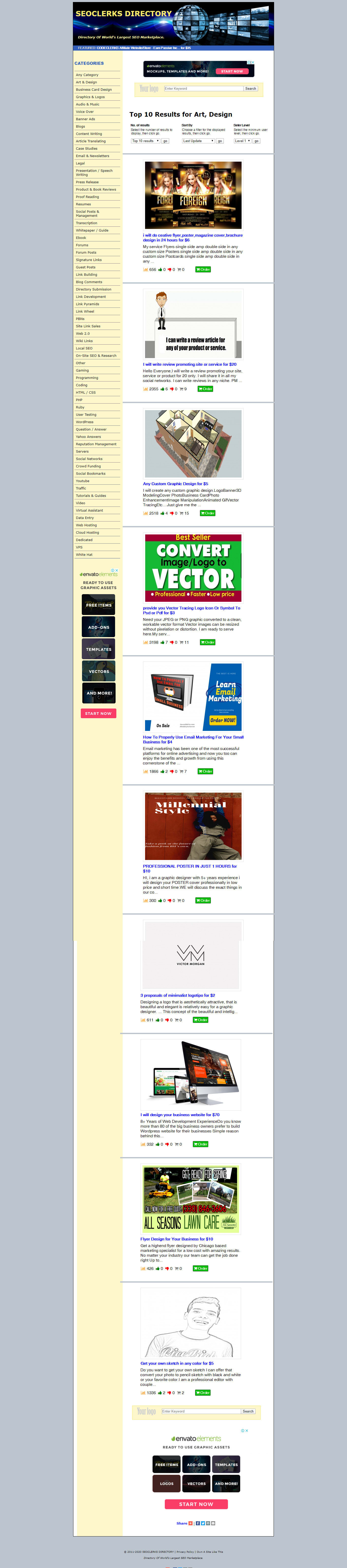 SEOCLERKS Affiliate Directory Website/Store - Earn Passive Income On Autopilot