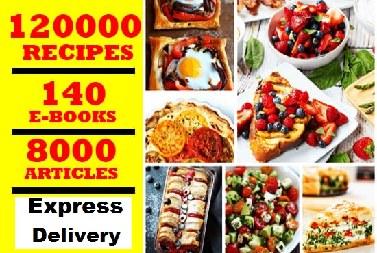 give best plr articles and ebooks on 120,000 food recipes