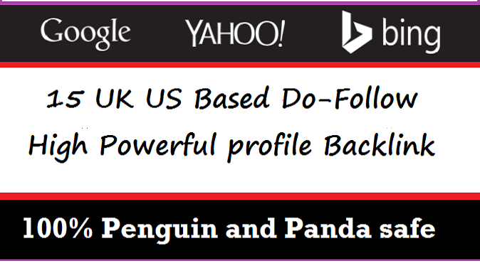 I will create 15 US UK based EDU GOV Do Follow powerful backlinks