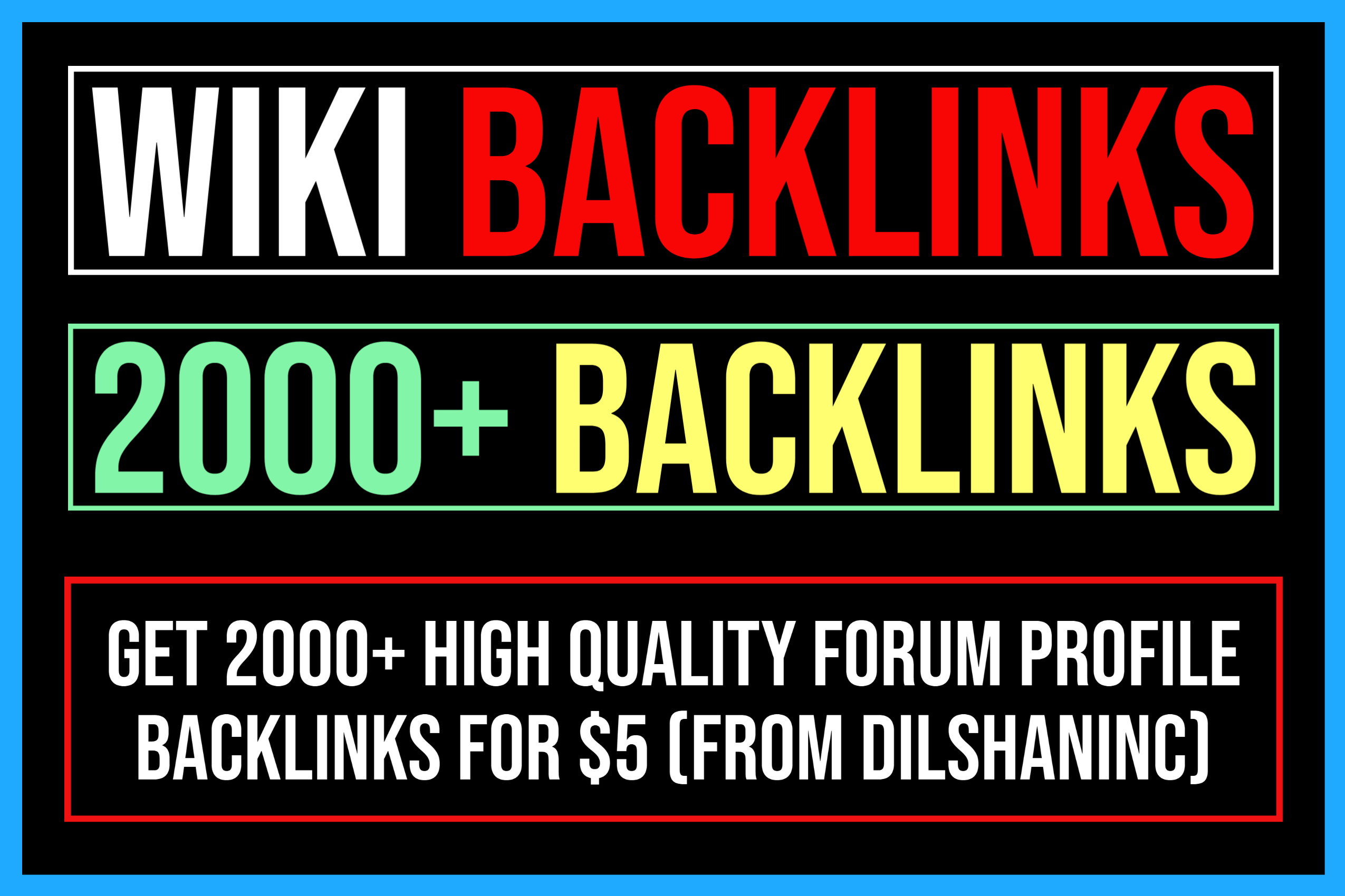 Create 2000+ High Quality Wiki Articles Backlinks