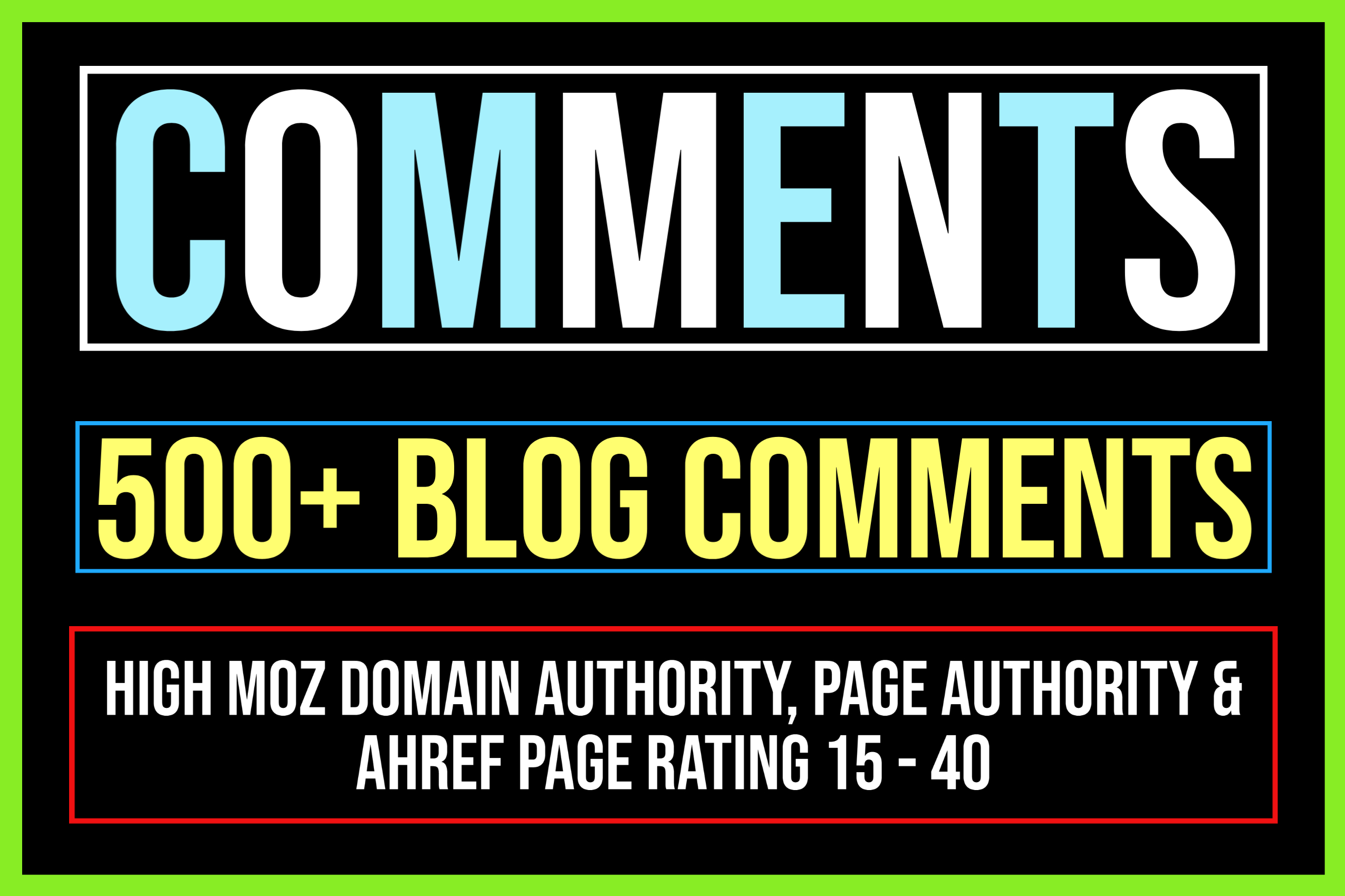 Create 500+ Dofollow Blog Comment Backlinks