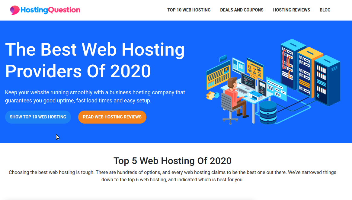 Web Hosting Review & Comparison Affiliate Site