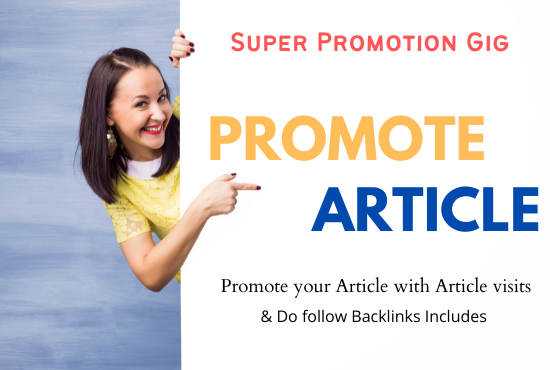 I will Promote Your Article Via Premium Monty Service