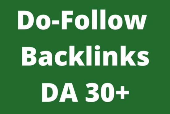 I WILL create 10 backlinks of DA Domain Authority 30+