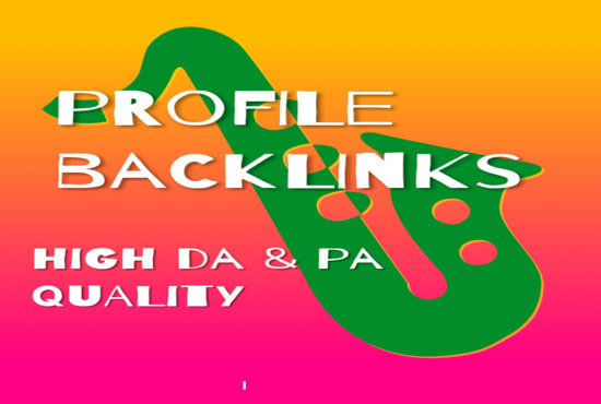 I will do social media profiles for high da pr SEO 40 backlinks
