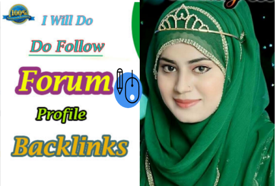 I will create 100 forum profile backlinks