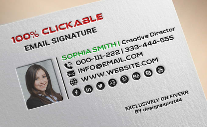 I will do clickable html email signature within 2hrs