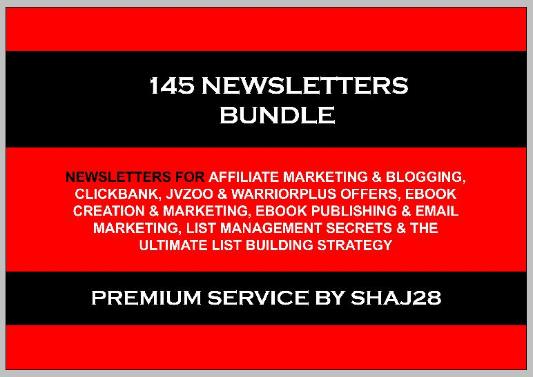 145 Newsletters Bundle For Successful Email Marketing